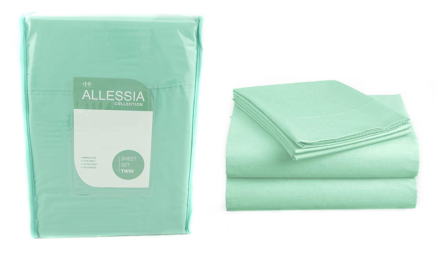 Allesia Collection Mint Green Twin Size Sheet Set Back To School College Dorm