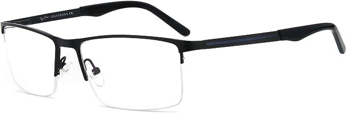 Metal Plastic Rectangular Clear Lens Eyewear Eye Glasses Fashion Classic Women Men Unisex
