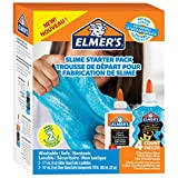 Elmer's Glue Kit, Clear School Glue & Blue Glitter Glue, 4 Count