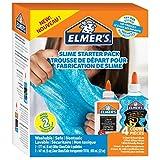 Elmer's Glue Kit, Clear School Glue & Blue Glitter Glue, 4 Count