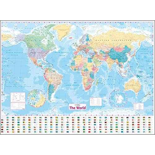 World maps amazon collins world wall laminated map world map gumiabroncs Images