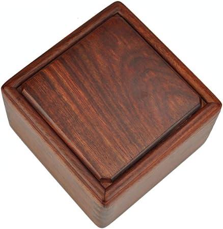 FOKN Caoba Retro Caja De Colección De Monedas De Jade De Almacenamiento Caja De Madera Caja De Sello De Caoba Caja De Joyería De Madera,A-7CM*7CM*3.5CM: Amazon.es: Hogar