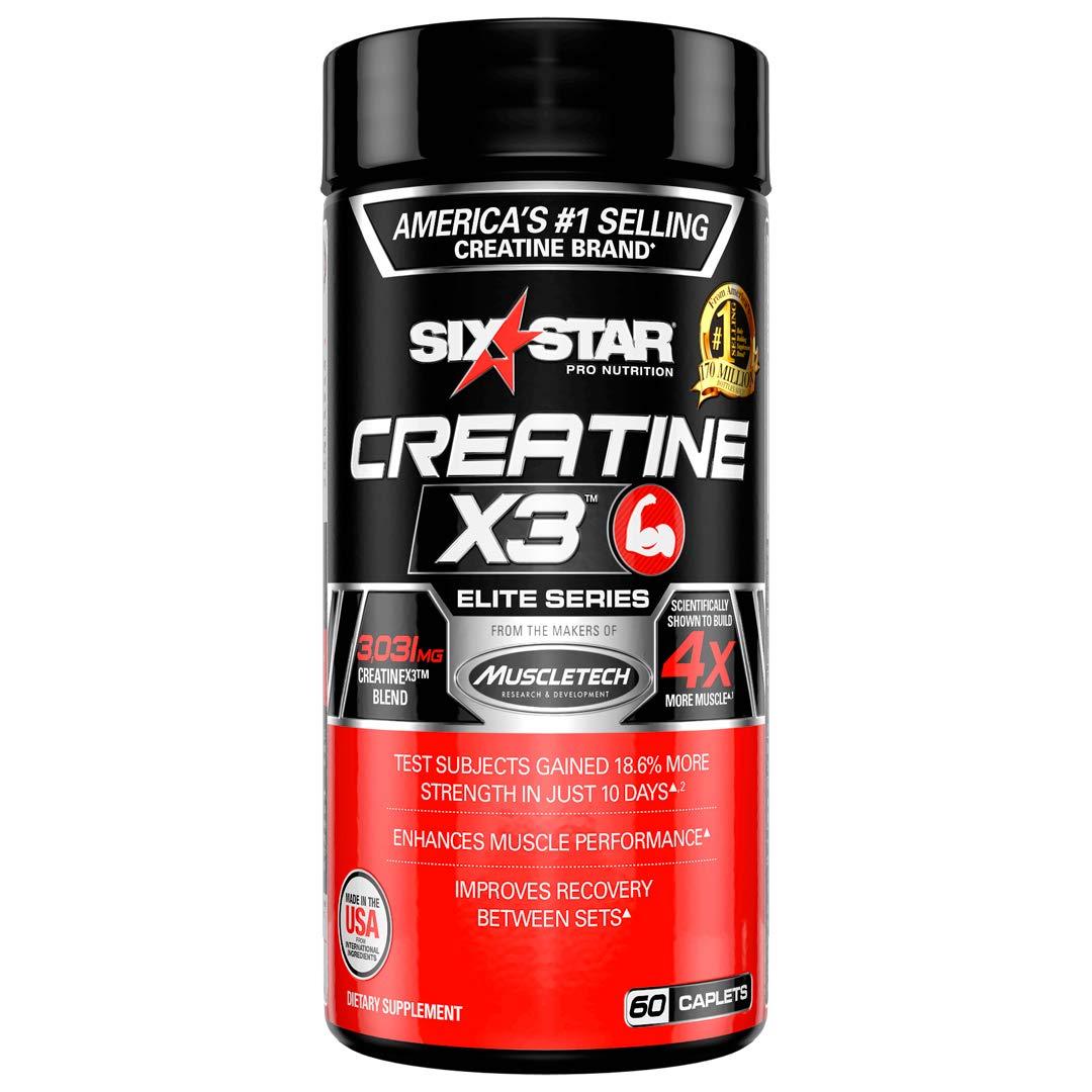 Creatine Pills   Six Star Post Workout X3 Creatine Capsules   Creatine Monohydrate Blend   Muscle Recovery & Muscle Builder for Men & Women   Creatine Supplements   Creatina Monohidratada, 20 Servings