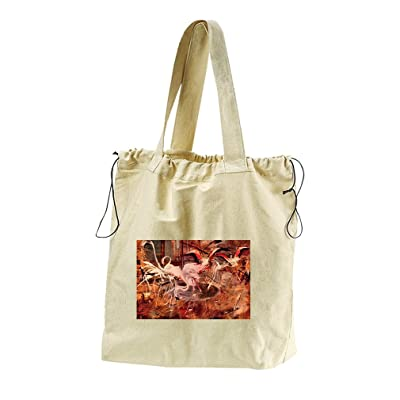 Flamingos Palais Rose Vésinet (Boldini) Canvas Drawstring Beach Tote Bag  hot sale 89ca5e55a0