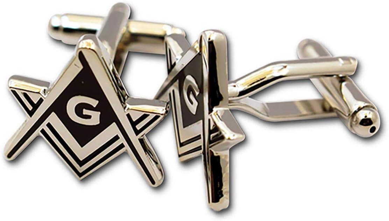 Masonic Regalia Compass /& Square Silver Coloured Cufflinks           X2NC020NOG