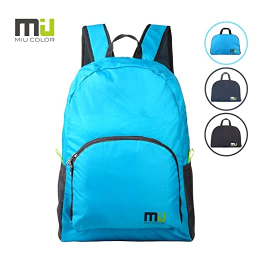 Foldable and Durable Lightweight Backpack, Packable Waterproof Daypack
