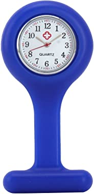 Yesurprise Silicone Nurse Watch Quartz Clip on Brooch Fob Pin Pocket Watches Montre de poche