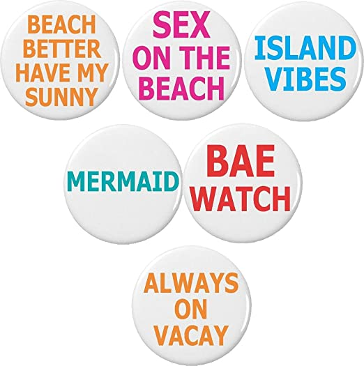 Set 5 Beach Island Mermaid Vacation Sunny 225quot Keychains Cute Quotes