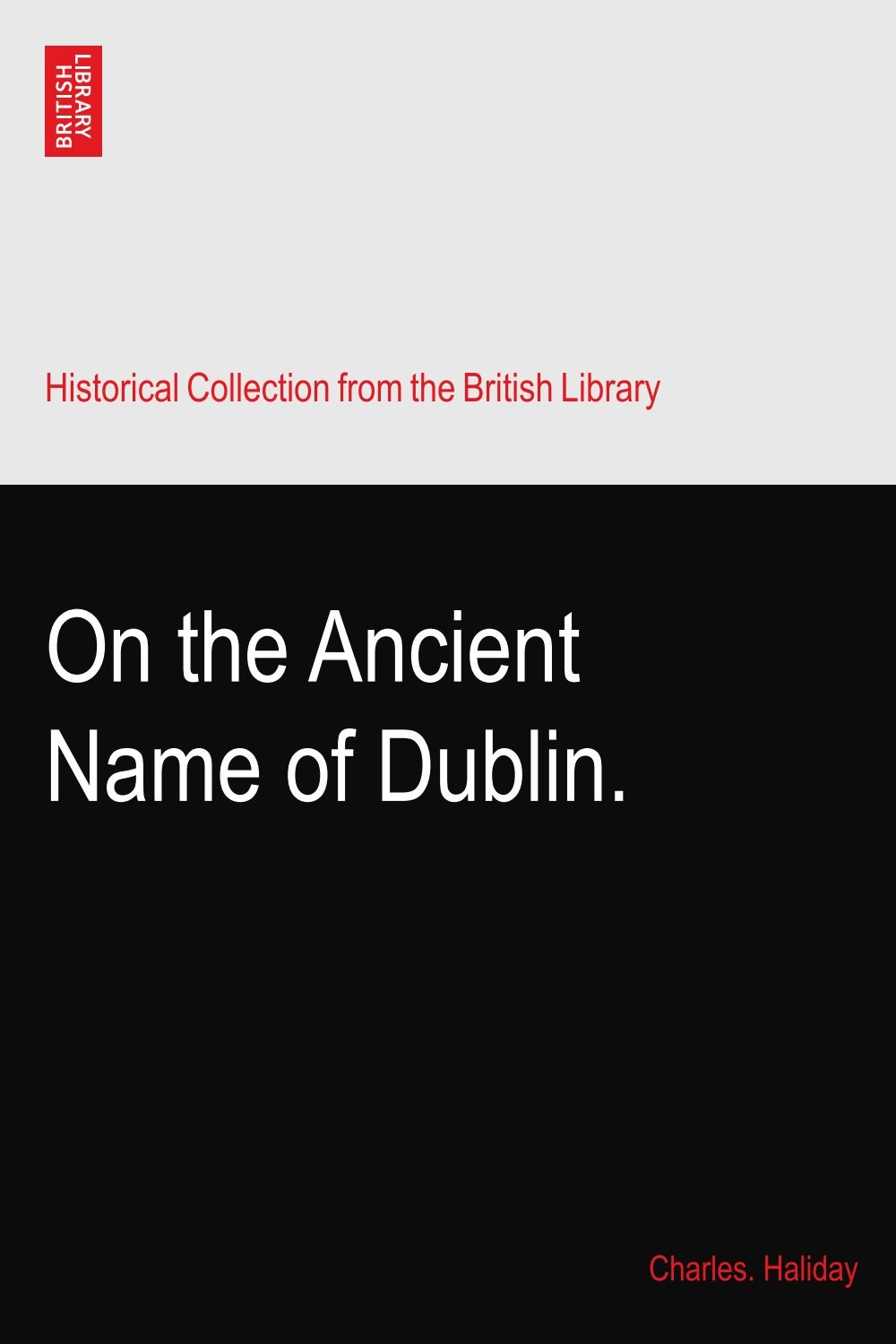 Download On the Ancient Name of Dublin. pdf