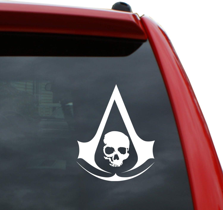 Amazon Com Assassin S Creed Black Flag Logo Vinyl Decal Sticker
