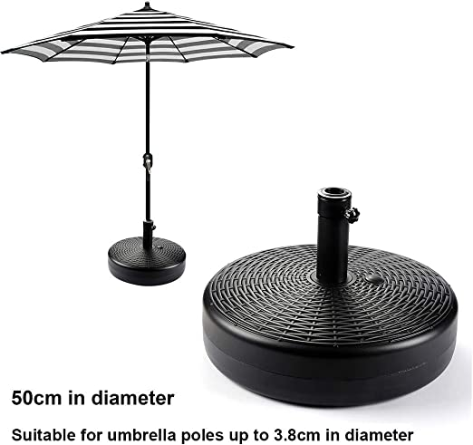Gardening Tools Soporte Base para sombrilla Pesada al Aire Libre, para Poste de Paraguas de 3.5-3.8cm Base para sombrilla jardín terraza, Paragüero Redondo de plástico con Relleno automático: Amazon.es: Hogar
