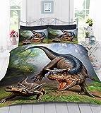 TTO 3D Digital Photo Print Dinosaur World Duvet Quilt Cover with Pillowcase, Made in UK (Albertosaurus)