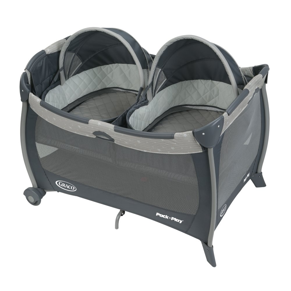 Graco Pack 'n Play Playard with Twins Bassinet, Stars