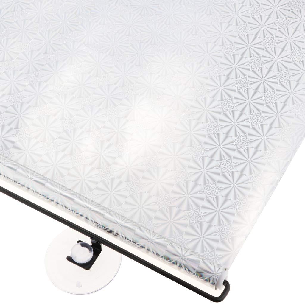 Baoblaze Zertifiziertem UV Schutz Silber Schwarz Selbsthaftende Universal Heckscheibe Sonnenblende-Auto Sonnenschutz