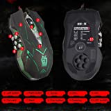Mouse ,ZYooh 10D 4000DPI Optical LED Wired Gaming