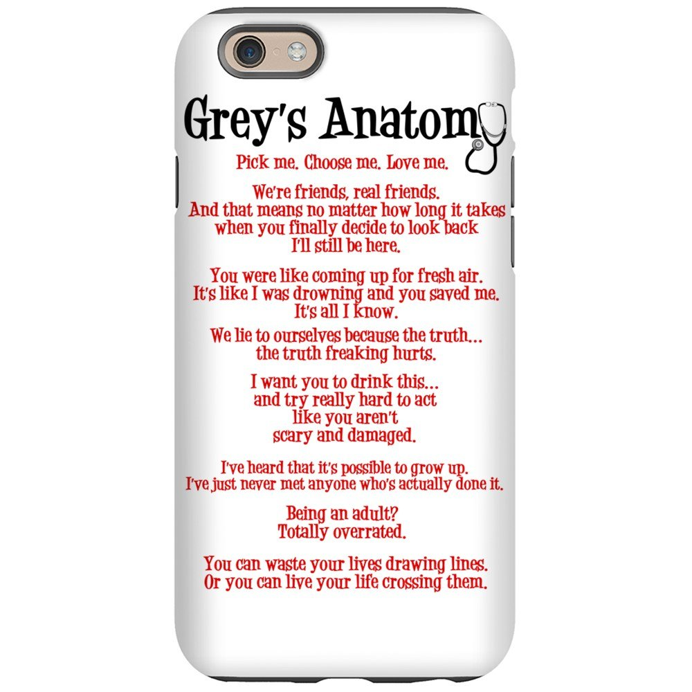 uk availability 5a57c bb4ce CafePress - Grey's Anatomy iPhone 6 Tough Case - iPhone 6/6s Phone Case,  Tough Phone Shell