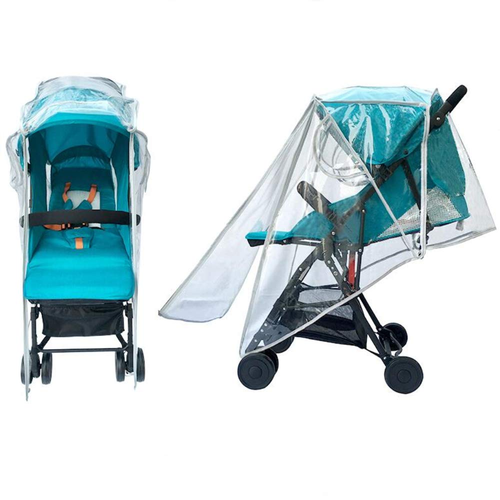 Baby Stroller Rain Cover Universal EVA Pram Jogging Stroller Protection from Rain Wind Snow Dust Insects Large, EVA