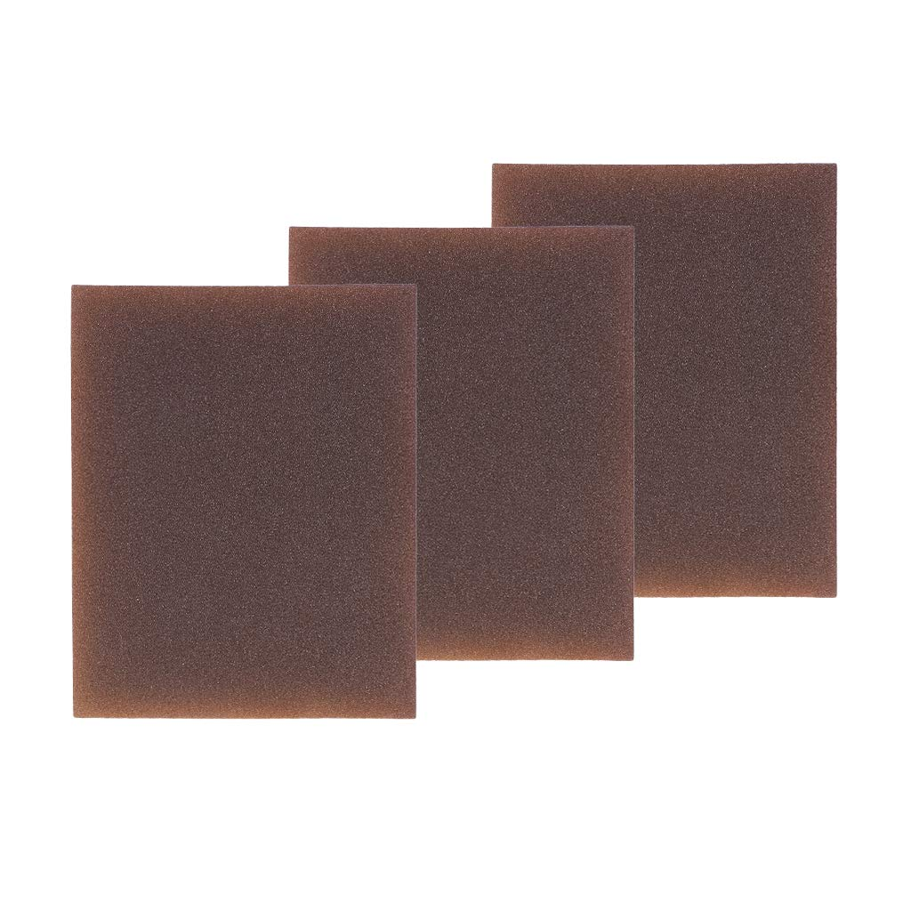 Baoblaze 3 Pieces Polishing Sanding Sponge Block Pad Set, Foam Sanding Block Wet Dry, Bodywork,Sandpaper,Sponge Pads, Multi Purposeh - Rough / Medium / Fine / Extra Fine - reddish brown, Fine 240-320 Grit