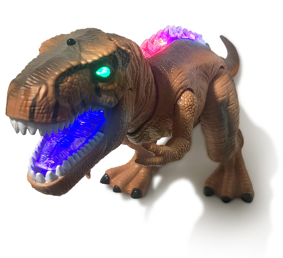 Warp Gadgets - Remote Control LED Brown T-Rex Dinosaur 19 Inches - Walking Dancing, Roaring, Light Up RC Toy by Warp Gadgets (Image #4)