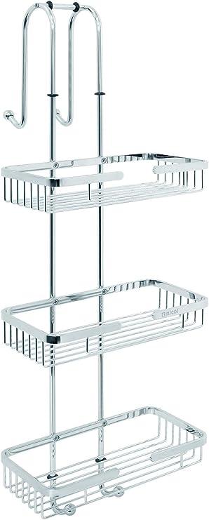 Nicol Nero - Estante de ducha para colgar con 3 estantes, sin ...