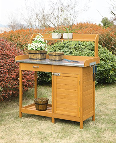 (Convenience Concepts Deluxe Potting Bench With Cabinet)