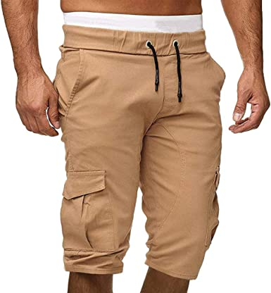VPASS Pantalones Hombre,Verano Pantalones Casual Moda Trabajo Corta Pantalones Camuflaje Pants Jogging Deportes al Aire Libre Fitness Pantalon Chandal Hombre Pantalones Trekking Pantalones de Playa