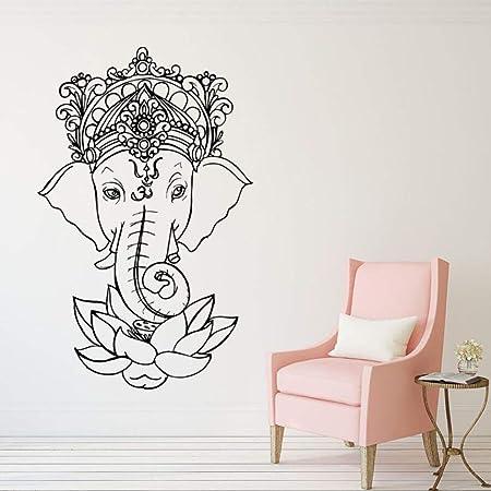 wanmeidp Elefante Vinilo Tatuajes de Pared de Yoga Ganesh ...