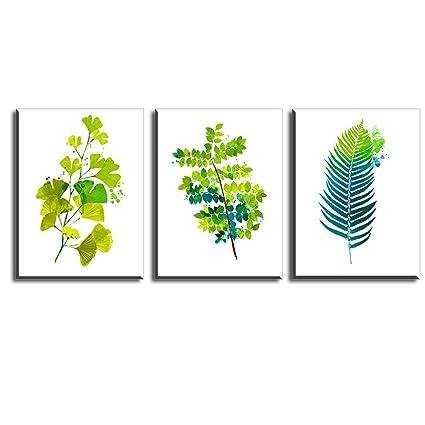 Cuadros Sobre el Lienzo Imprimir Impresiones de Lienzo Hoja Verde ...