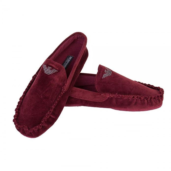 Emporio Armani - Mocasines de Material Sintético para hombre, color rojo, talla 42 EU: Amazon.es: Zapatos y complementos