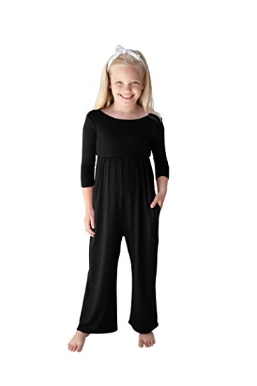 POPINJAY Girls Romper Jumper Best Long Pants Jumpsuit with Side Pockets