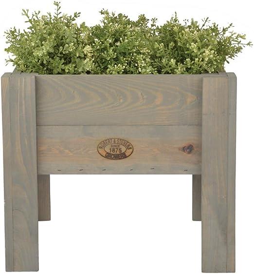 Esschert Design – Macetero Caja Sobre patas, 42 x 42 x 36 cm, Caja, caja de madera, Jardinera, Número: 2 unidades: Amazon.es: Hogar