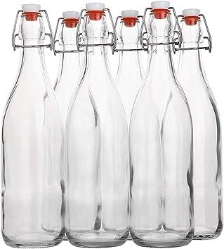 Yanghao Claro tirón de Cristal Superior de la Botella de 1 litro ...