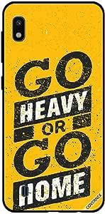 جراب لهاتف سامسونج جالاكسي A10 مطبوع عليه Go Heavy Or Go Home
