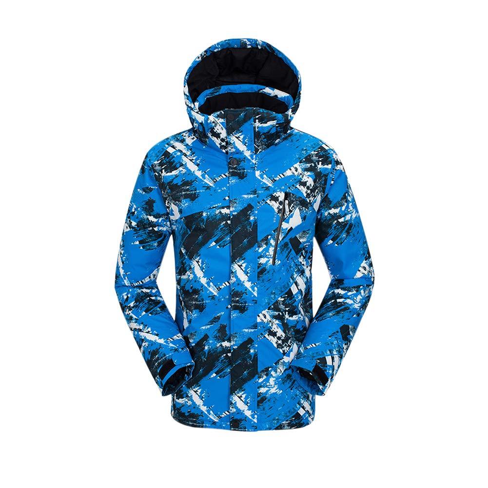 Texture Bleu Tag XL= EU US UK AUS MEX L Xinvision Veste de Ski Homme - Manteau Hiver Chaud avec Capuche, Coupe-Vent Imperméable Combinaison de Snowboard