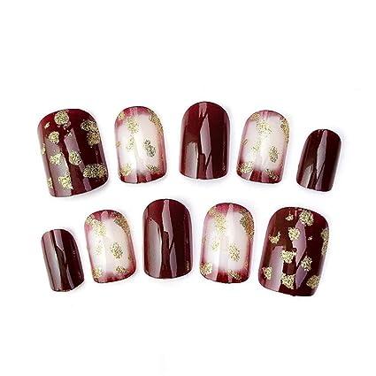 24pcs / set uñas postizas uñas falsas elegantes Cuadrados ...