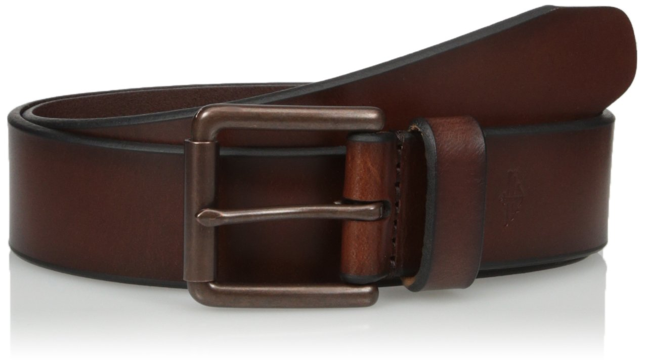 Dockers Men's 1 1/2 In. Leather Bridle Belt,Brown,36