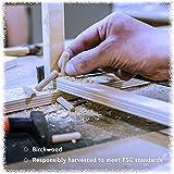 """100 Pack 3/8"""" x 1 1/2"""" Wooden Dowel Pins Wood Kiln"""