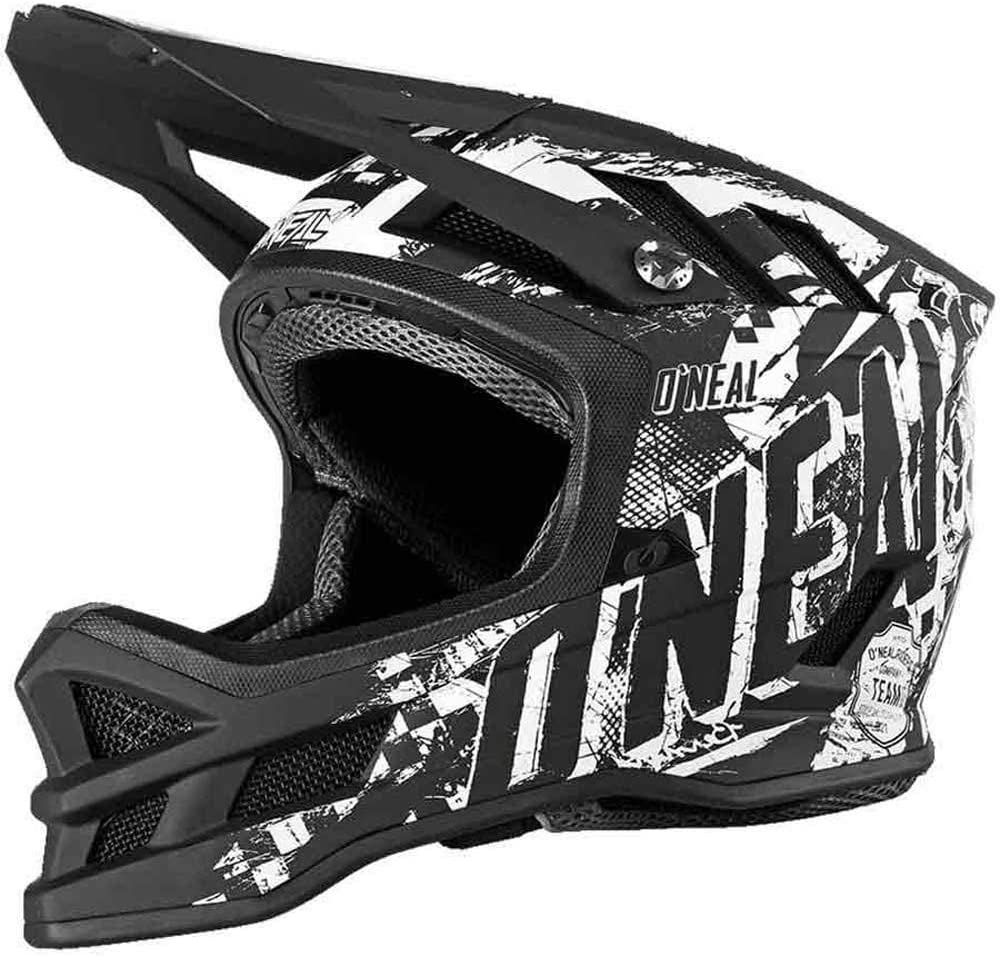 Schwarz Wei/ß Erwachsene Ventilations/öffnungen f/ür K/ühlung ONEAL Fiberglas Au/ßenschale MTB Downhill Gr/ö/ße S Dri-Lex/® Innenfutter Mountainbike-Helm Blade HYPERLITE Helmet Rider