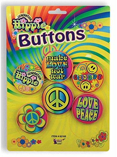 Forum Novelties Hippie 60's Button Set ()