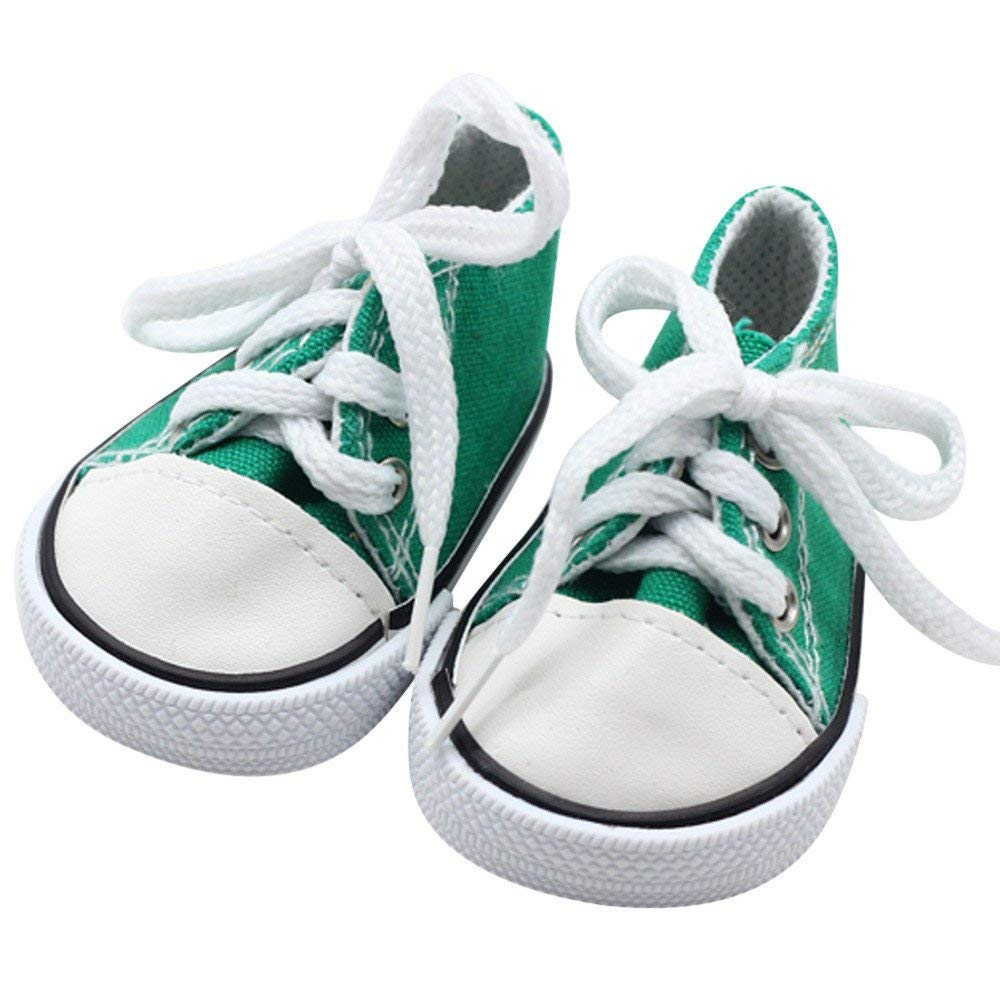 "Doll Clothes fits American Girl Hot 18/"" Canvas Sneakers Gym Shoes Accessories"