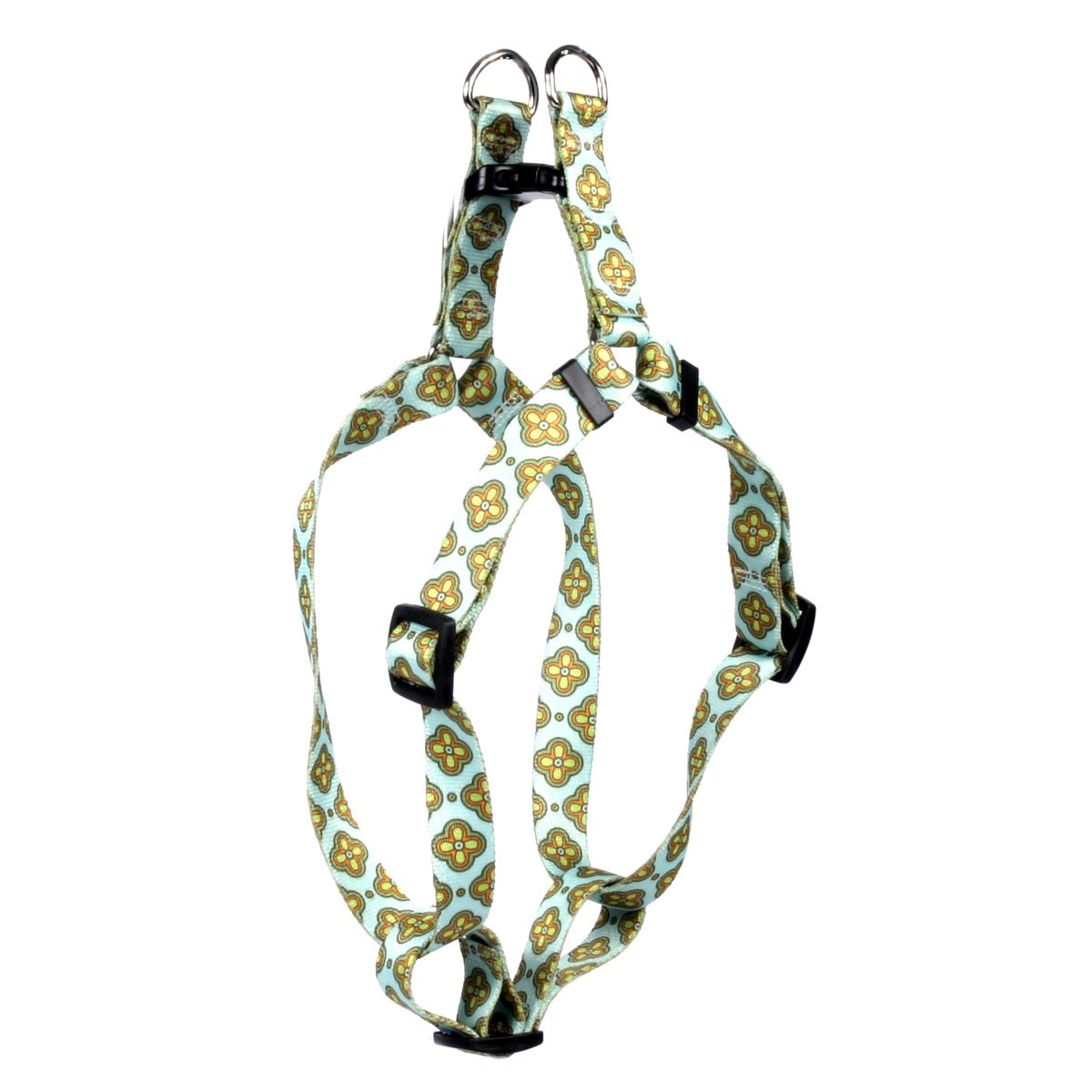 Yellow Dog Design Cleo Blue Step-in Dog Harness 3/4'' Wide and Fits Chest Circumference of 15 to 25'', Medium