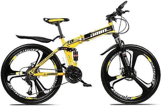 JLASD Bicicleta Montaña Bicicleta De Montaña, 26 Pulgadas Plegable ...