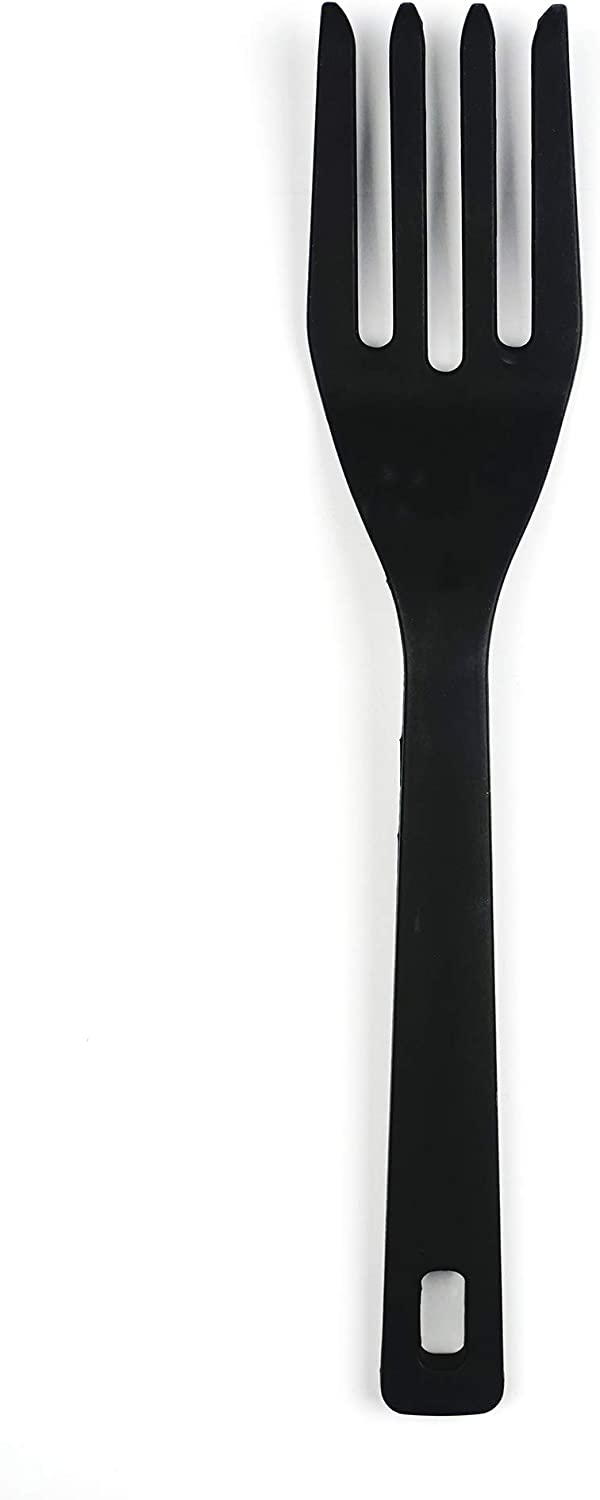 RSVP International (EFF-TQ) Silicone Flexible Fork, Black, 11"