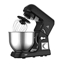 MURENKING MK36C Food Stand Mixer 1000W 5L Mixing Bowl 6 Speeds Control Kitchen Machine with Splash Guard, Beater, Dough Hook & Whisk