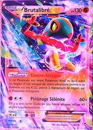 Carta Pokémon 64/111 Brutabilité-EX 130 PV ULTRA RARE XY ...