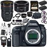 Canon EOD 5D III Digital Camera + EF 24-70mm f/2.8L II USM Lens + Canon EF 50mm f/1.8 STM Lens + LPE-6 Lithium Ion Battery + Canon 100ES EOS shoulder bag Bundle 15