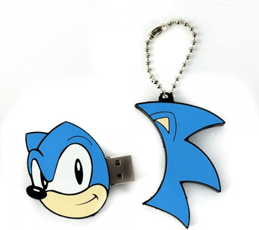 Amazon Com Sonic The Hedgehog Flash Drive 4gb Usb Thumb Drive With Snap Keychain Computers Accessories