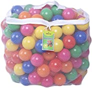 Click N' Play Pack of 200 Phthalate Free BPA Free Crush Proof Plastic Ball, Pit Balls - 6 Bright Colors in Reusable and Dura