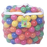 Click N' Play Pack of 200 Phthalate Free BPA Free Crush Proof Plastic Ball, Pit Balls - 6 Bright Colors in Reusable and Durable Storage Mesh Bag with Zipper: more info