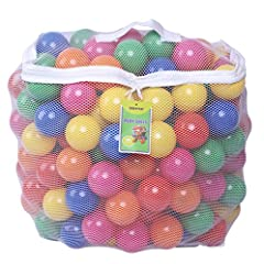 These Click n' Play plastic balls are great for ball pit, jumping castle and pools. They are safe to use and made to last a long time without having the air Using a unique 2-stage blow molding process to ensure consistency of thickness; quali...